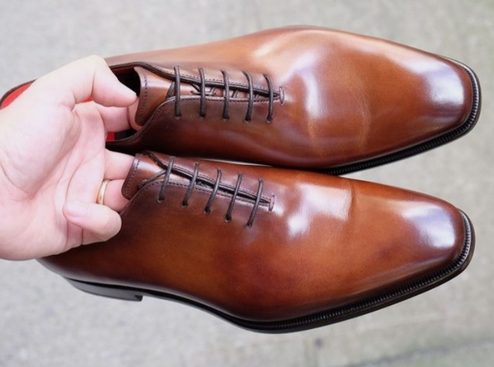 Handmade Lace up Brown Leather Handsome Adult Collection Available Shoes