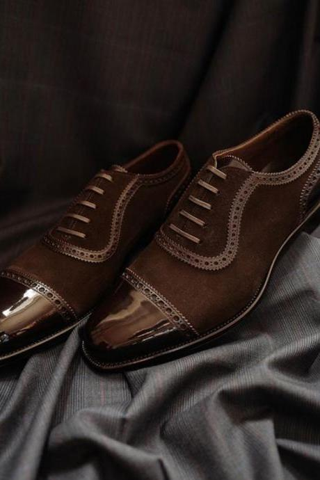 Best Wearing Handmade Chocolaty Classic Cap Toe Brown Lace Up Shoes