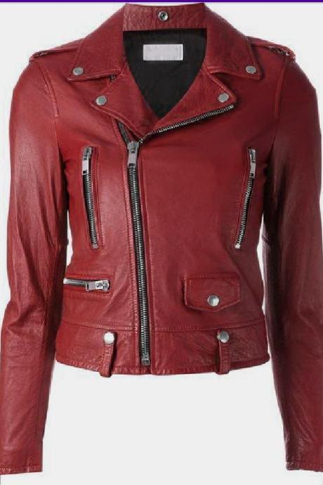 Women New Handmade Fashion Red Jacket, New Women Jacket