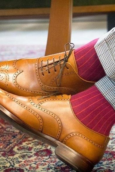 Handmade Men's Leather Lace Up Stylish Shoes, Men Tan Color Wing Tip Brogue Shoe