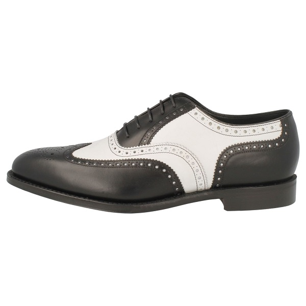 Handmade Men two tone dress shoes, Men black and white leather shoes, Men shoe
