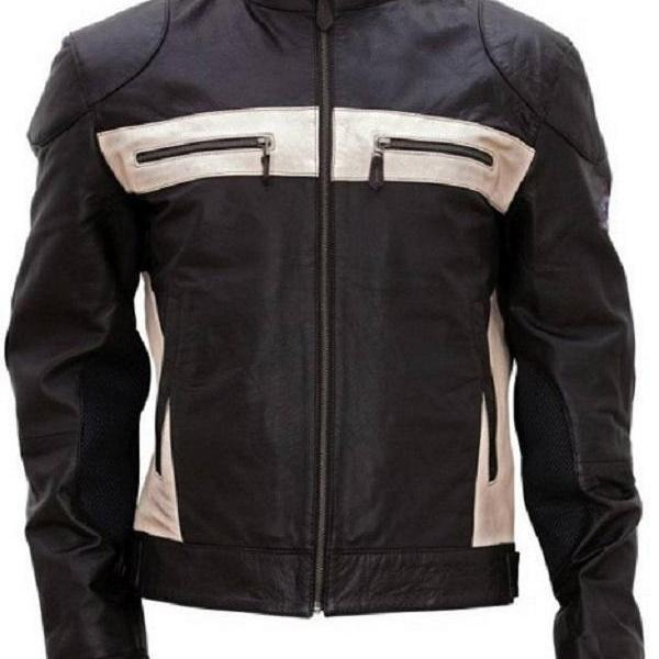 Men Genuine Lambskin Leather Biker Jacket, Designer Black Fashion Biker Jacket